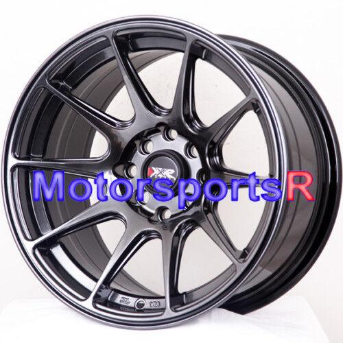 16 16x8 25 XXR 527 Chromium Black Concave Wheels Rims 4x100 84 87 88