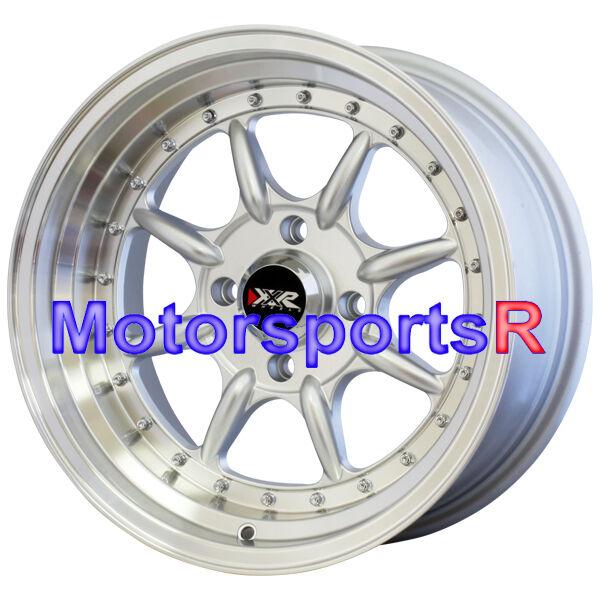 16 16x8 XXR 002 Hyper Silver Wheels Rims 4x4 5 73 78Datsun 240z 260z