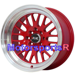 Acura Wheels on Xxr 531 Red 20 Rims Wheels Deep Dish Stance 4x100 01 Acura Integra Gsr