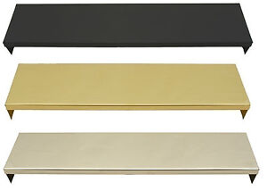 16 18 Inch Smoke Canopy Brass Black Stainless Steel