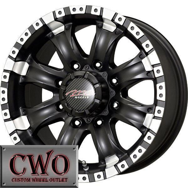 16 Black MB Chaos 8 Wheels Rims 8x165 1 8 Lug Chevy GMC Dodge 2500