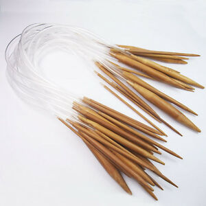 Circular Knitting Needles : Details about 16Circular Bamboo carbonized Knitting Needles 18pairs