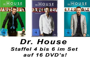 16-DVDs-DR-HOUSE-STAFFEL-4-6-IM-SET-NEU-OVP