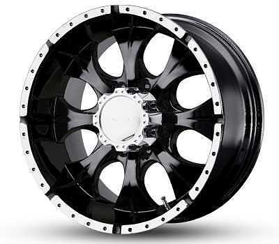 BLACK MACHINED RIMS DODGE CHEVY FORD 2500 3500 F250 3 4 TON WHEELS