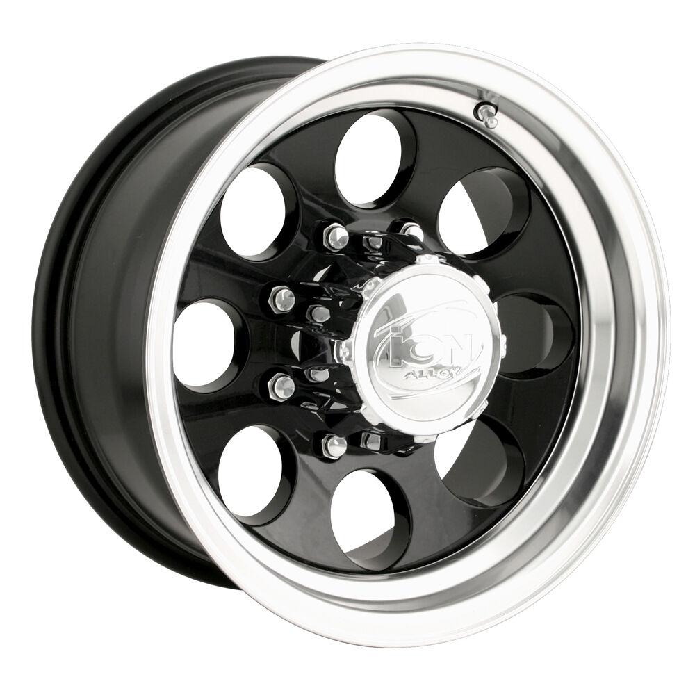 16 ion 171 Black Wheels Rims 8x6 5 8 Lug Chevy Dodge