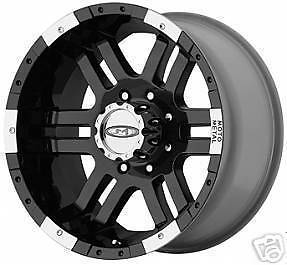 16 Inch 16x9 MO951 Black Wheels Rims Chevy HD Dodge 2500 Ram Truck 8x6