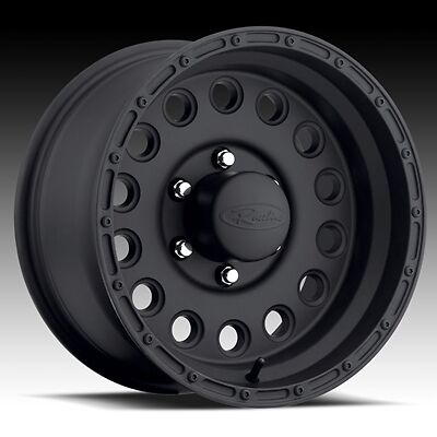 16 inch Black Raceline Rock Crusher Wheels Rims Chevrolet Silverado Tahoe 6x5 5