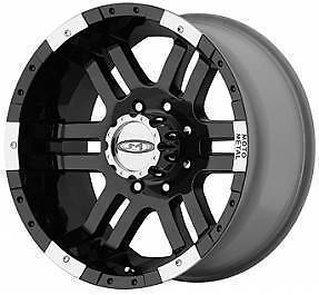 Metal BLACK WHEELS Chevy Dodge 2500 GMC Ford Truck 8 Lug 8x6 5 Rims