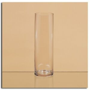 "20"" H x 6"" W Clear Glass Cylinder Vase, Flower Vase"