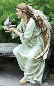 16-MEMORIAL-ANGEL-SEATED-Outdoor-Garden-Statue-New