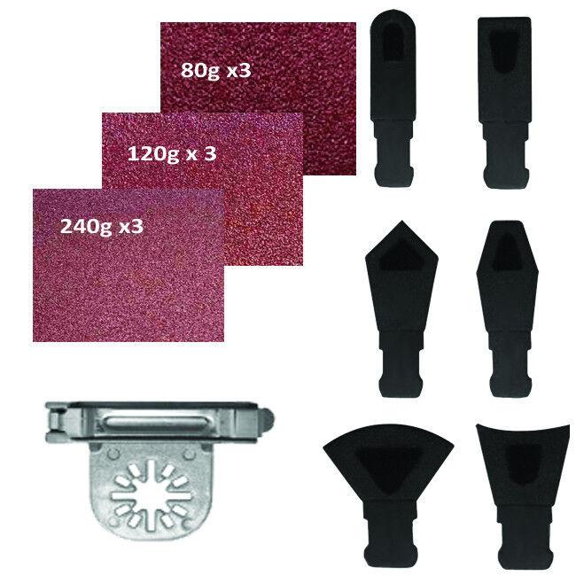 52 Pc Triangular Sanding Kit Oscillating Multi Tool Pad Chicago Dremel Craftsman
