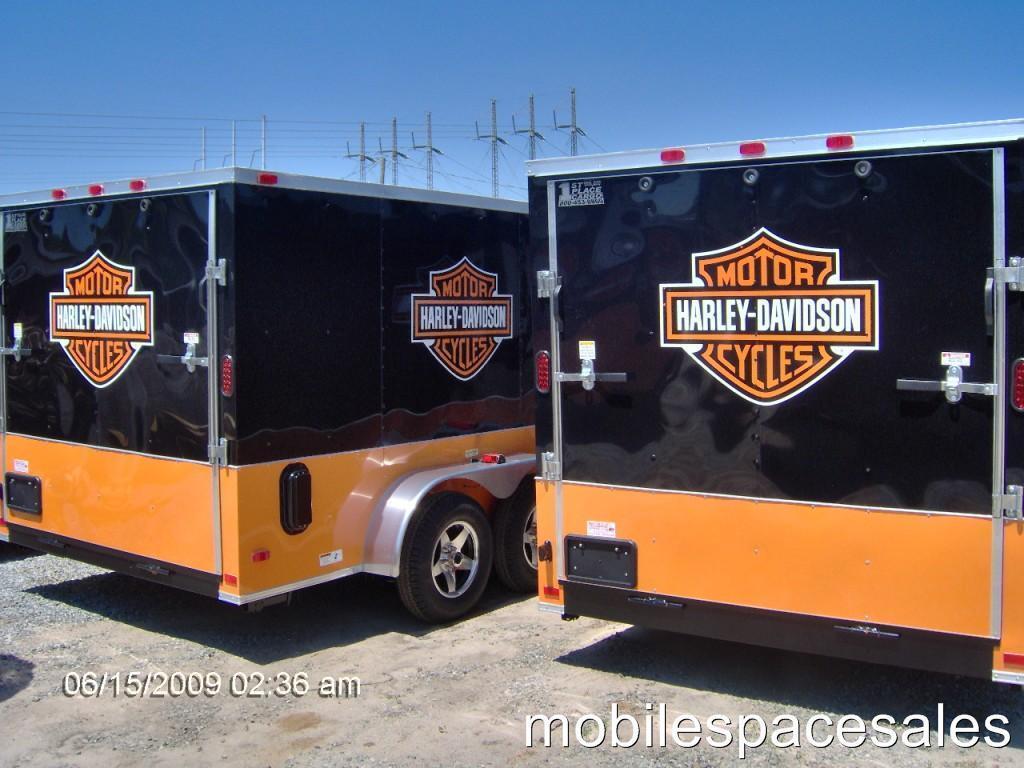 16 ft enclosed cargo 3 4 bike motorcycle trailer harley LED lights toy
