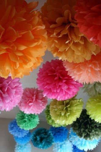 16 small 9 inches pompoms tissue paper . wedding decoratons - party in Home & Garden, Holidays, Cards & Party Supply, Party Supplies | eBay