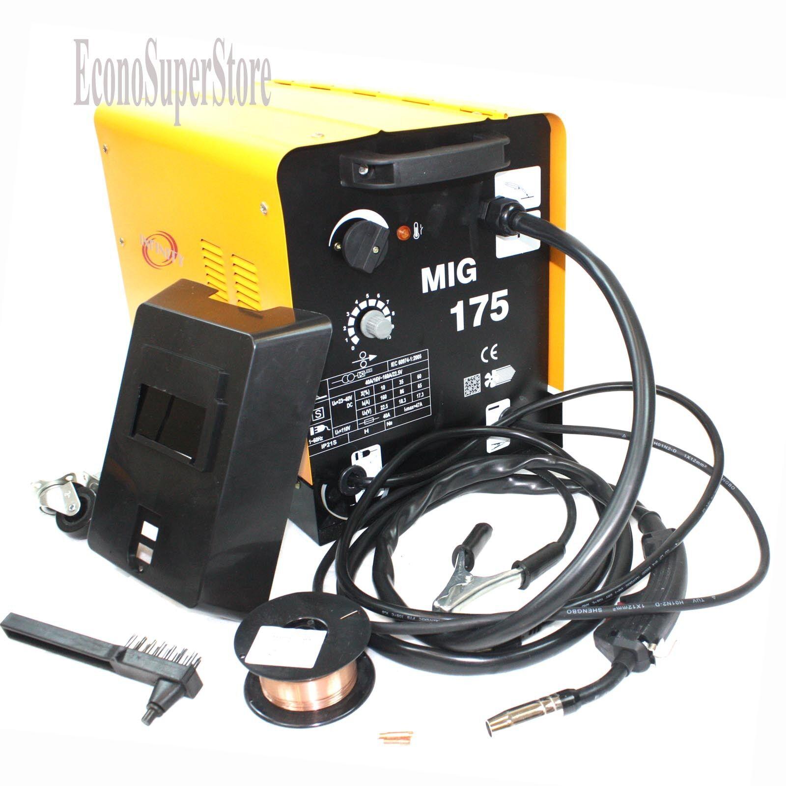 MIG 175 160AMP 110V Mag Flux Core Welding Machine Gas Welder ...