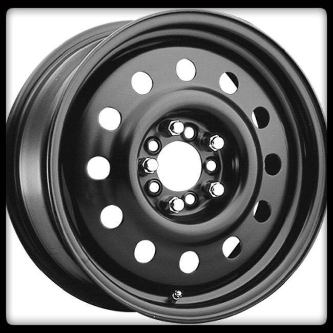 Matte Black Mod 5x4 25 5x4 5 Thunderbird LHS Steel Wheels Rims