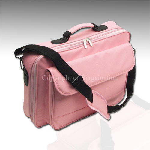 "17""16""15""Laptop Notebook carrying bag case briefcase ~Pink in Computers/Tablets & Networking, Laptop & Desktop Accessories, Laptop Cases & Bags 