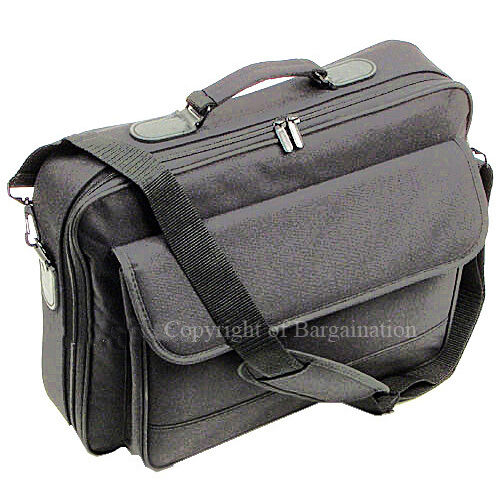 "17""16""15""Laptop Notebook carrying bag case briefcase ~ black in Computers/Tablets & Networking, Laptop & Desktop Accessories, Laptop Cases & Bags 