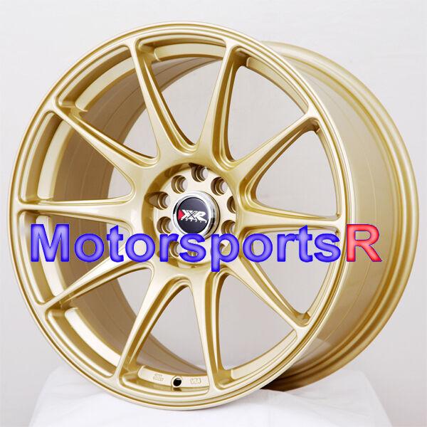17 17x8 25 XXR 527 Gold Concave Rims Wheels ET 35 Offset 5x100 5x114 3