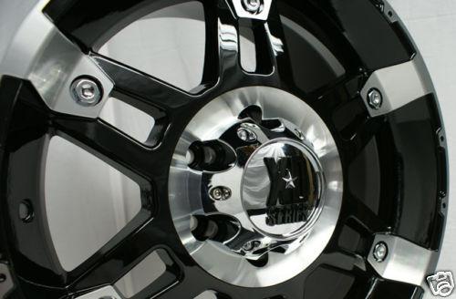 "17 18 20"" inch Black KMC XD Spy Chevy Ford Wheels Rims"