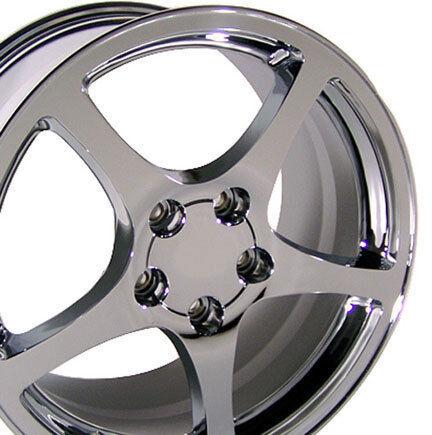 17 18 8 5 9 5 Chrome C5 Style Wheels Rims Fit Camaro Corvette