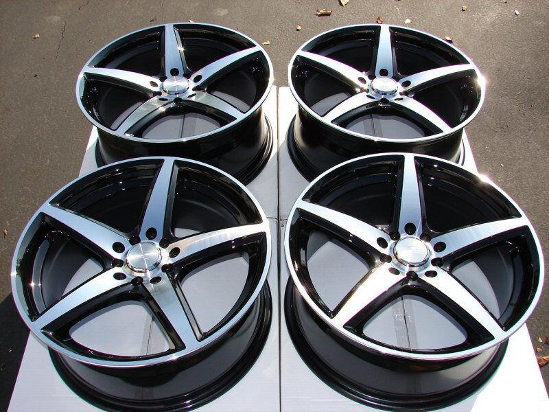 5x114 3 Rims Black Lexus Taurus Eclipse Celica Protege Xb 5 Lug
