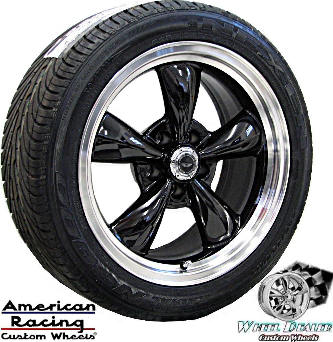 17 Black American Racing Wheels Tires Chevy Camaro Z28 SS V6 LT1 LS1