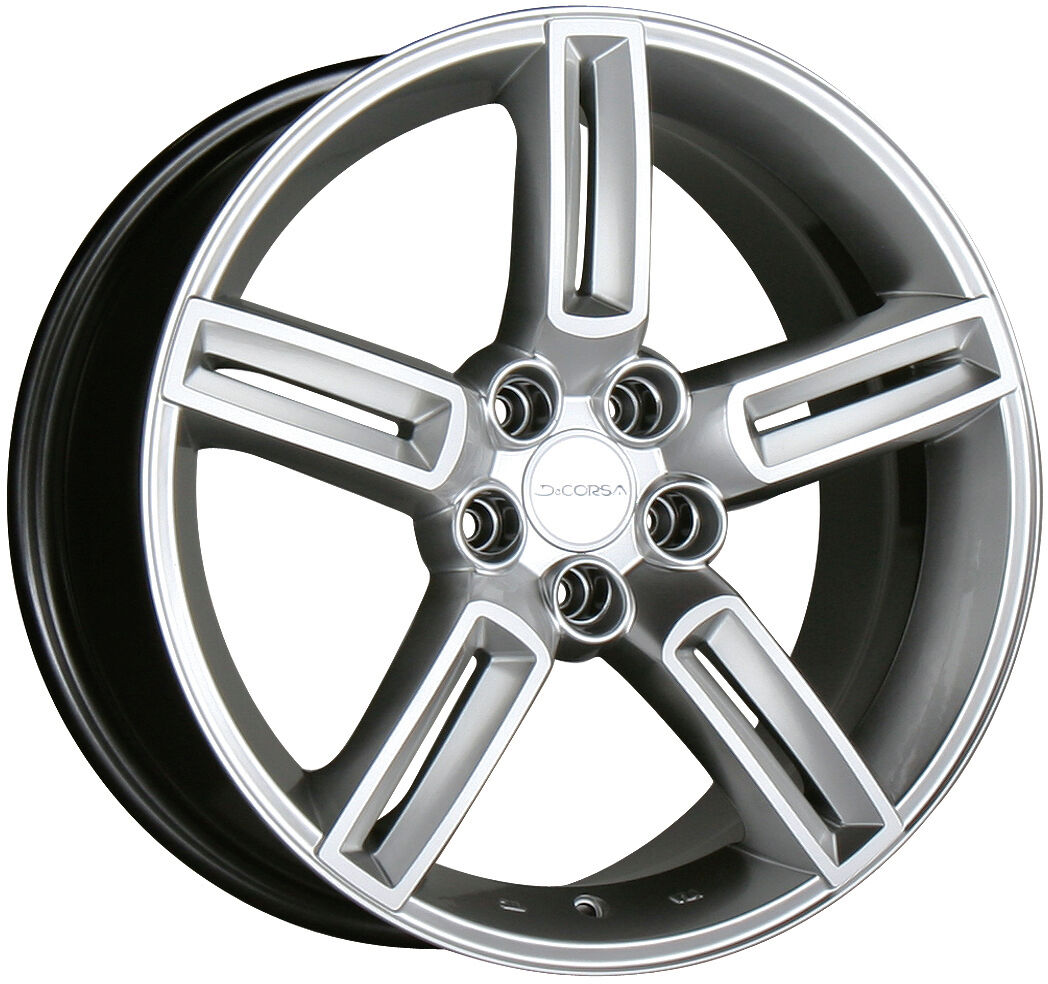 "17"" Decorsa Oracle Metallic Silver Wheels Rims Toyota Honda Nissan 5x114 3"