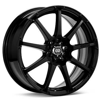 17 Enkei EDR9 Black Rims Wheels 17x8 45 5x114 3 Mazda3 Mazda6 Prelude