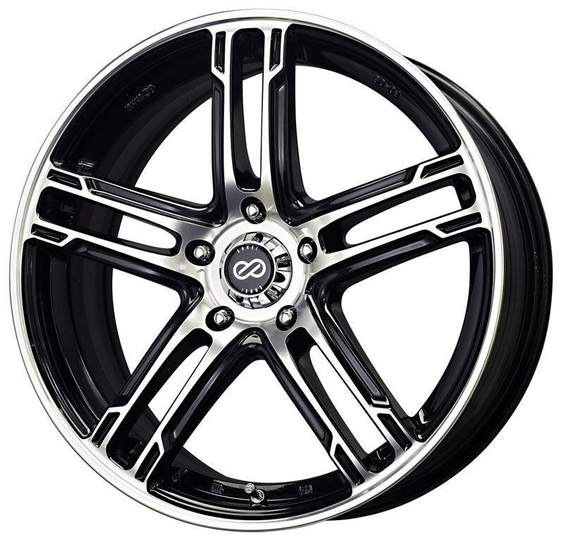 "17"" Enkei FD05 Black Wheels Rims 5x4 5 5 Lug Honda Acura Nissan Mazda Toyota"