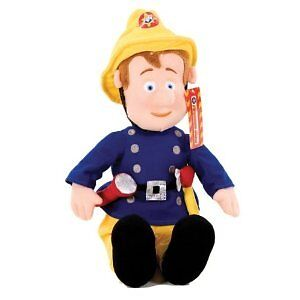 17-FIREMAN-SAM-SOFT-TOY-TEDDY-BEAR-PLUSH-LARGE-BNWT