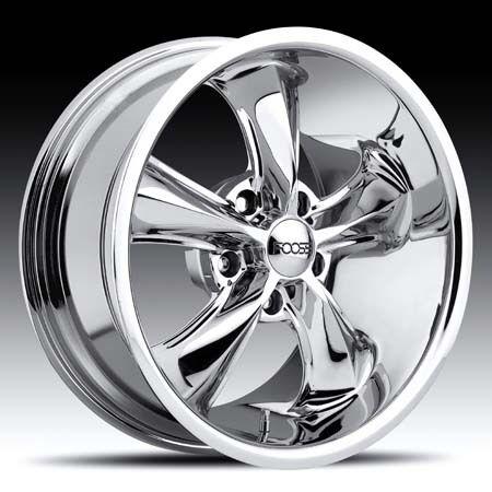 17x8 17x9 Legend Chrome Hot Rod Classic Wheel Set 17inch Rims