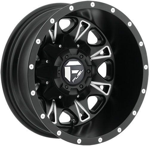 "17"" Fuel Throttle Black Wheels Rims 8x210 8 Lug Chevy GMC 2011 Up Dually Truck"