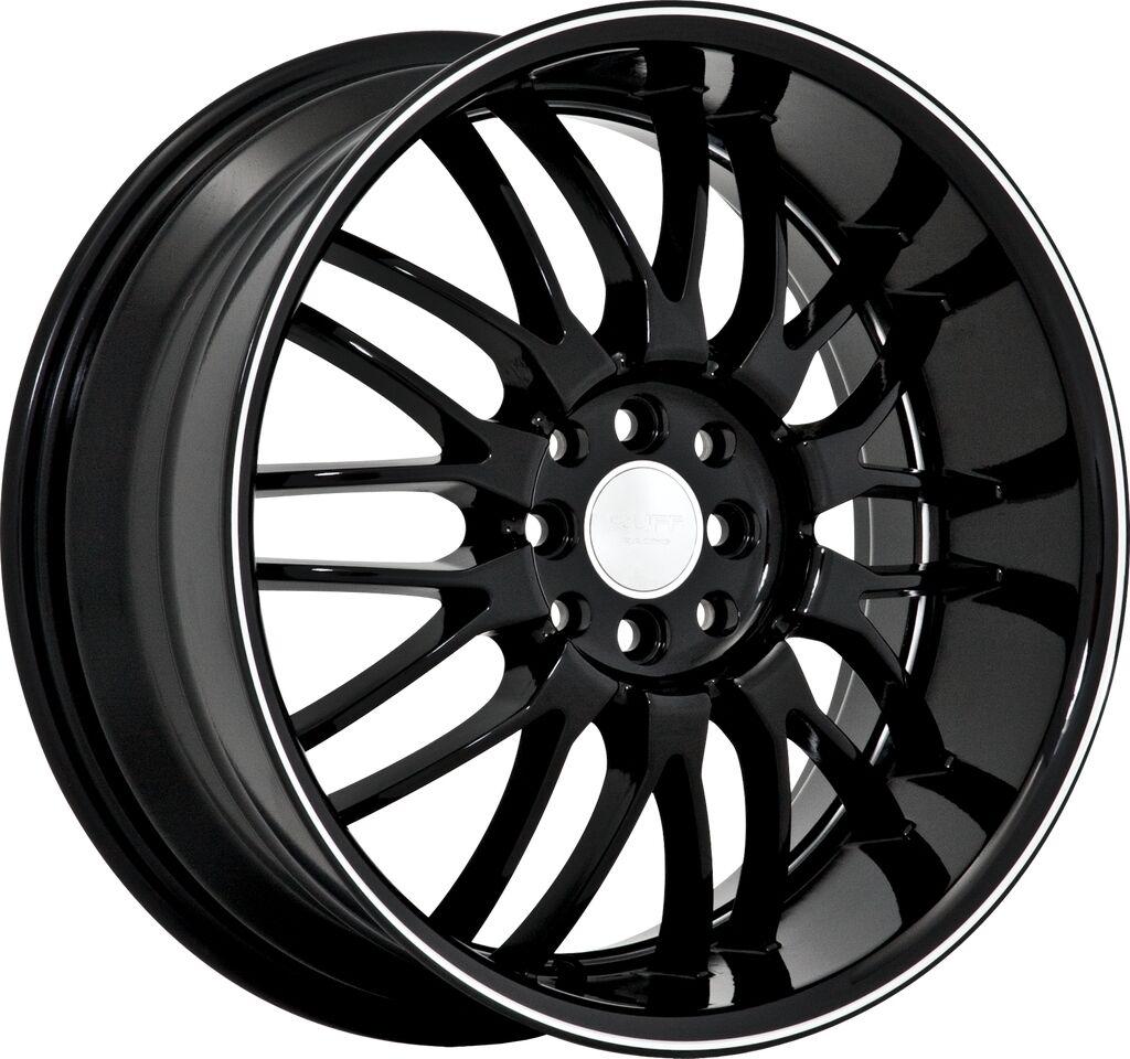 4x100 4x4 5 Black Machined Wheels Rims 4 Lug Honda Nissan Toyota 3 Lip