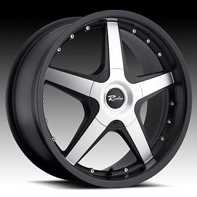 17 inch Black Raceline Cayman Wheels Rims Mitsubishi Eclipse galant Lancer 5x4 5