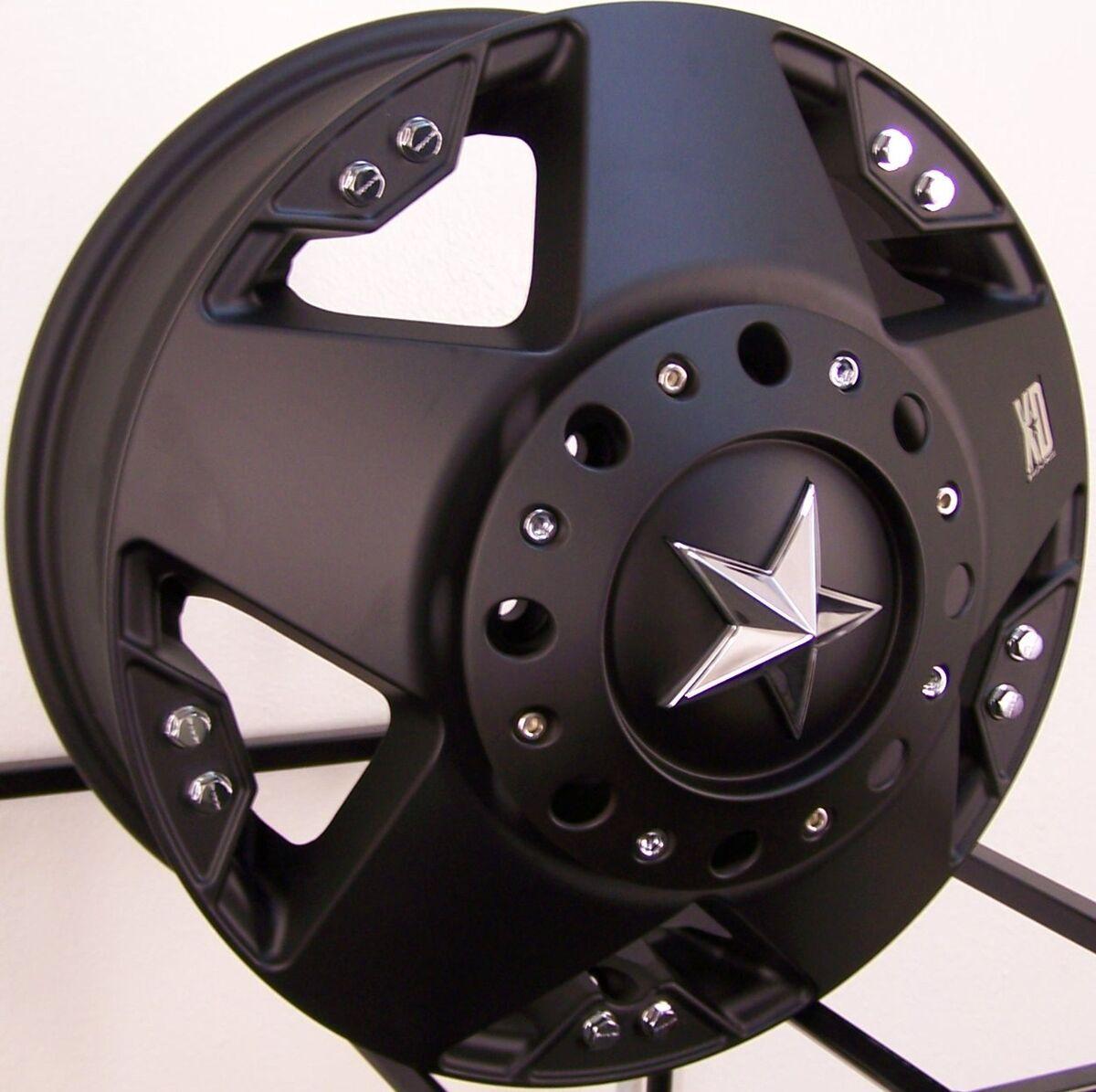 "17"" Matte Black XD Rockstar Wheels Rim Chevy Silverado GMC Dodge RAM 3500 Dually"