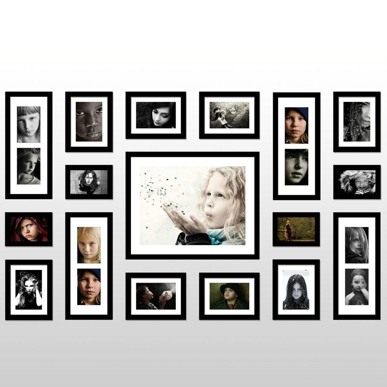 Family wall frame set hot girls wallpaper for Wall of framed pictures