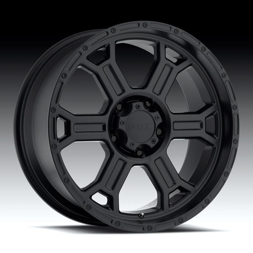 17 Vision Raptor Matte Black Wheels Rims 6x5.5 6x139.7 6 lug Chevy GM