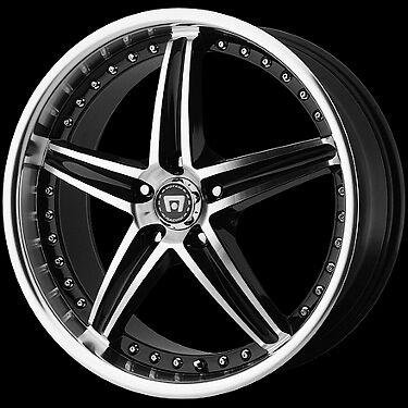 Motegi MR107 107 Gloss Black Machined Wheels Rims 4 5 Lug