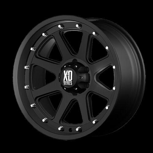 "17"" XD Addict Matte Black Rims w 295 70 17 Nitto Trail Grappler MT Tires Wheels"