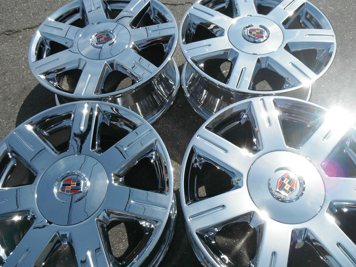 "17"" Cadillac DTS STS Seville DeVille Factory Chrome Wheels Rims Set Purchase"