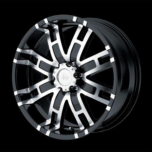 17 inch Black Truck Wheels Rims 5 Lug Dodge RAM 1500 Ford F 150 Truck