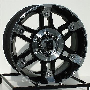17 inch Black Wheels Rims Chevy GMC Sierra 6 Lug 1500 Truck Avalanche Yukon XD