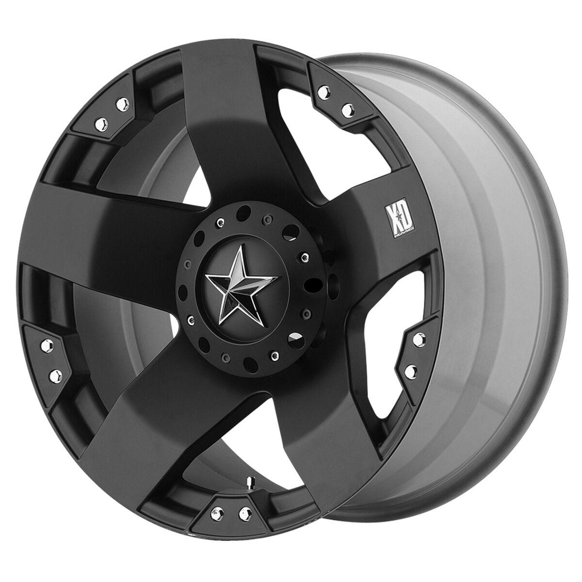 Black wheels rims KMC XD 775 Rockstar Jeep Wrangler 2007 2013 only 5x5