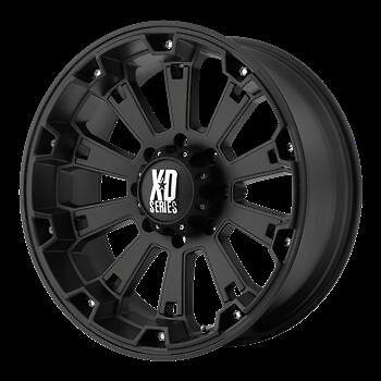 17 inch Black Wheels Rims XD Series 800 Misfit Chevy GMC 1500 Trucks 6 Lug 6x5 5