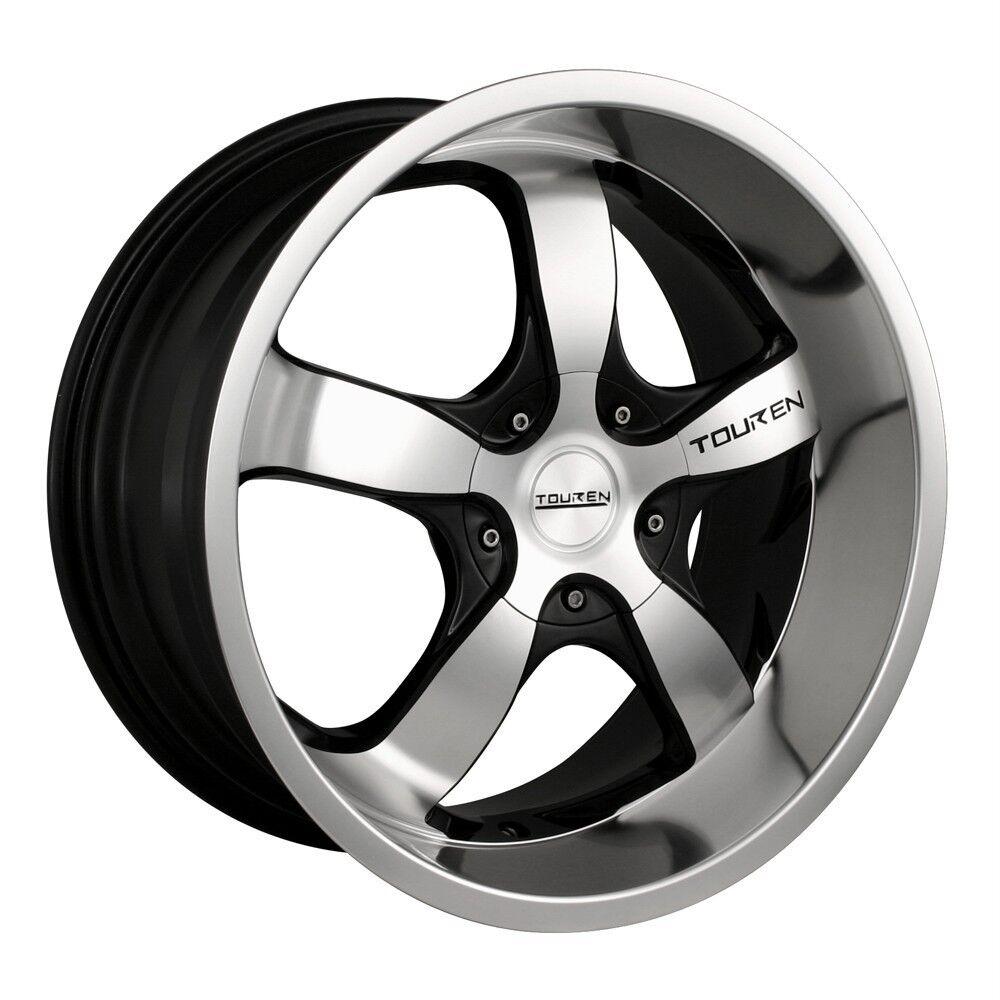 17 inch Touren TR6 Black Wheels Rims 5x110 Catera Cobalt HHR Malibu G5