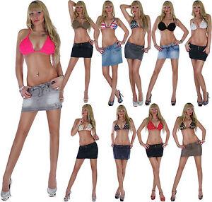17t-Minirock-Jeansrock-Damenrock-Damenjeansrock-Jeans-Mini-Rock-Skirt-Lederlook