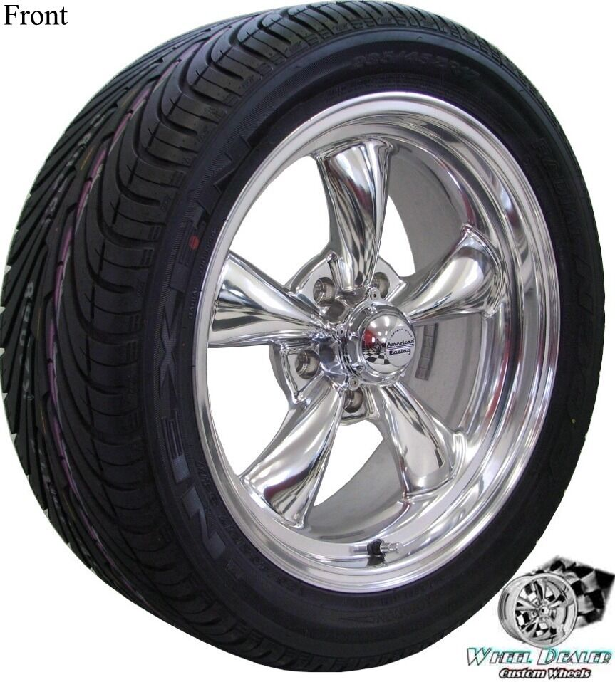 Polished Rev Classic 100 Wheels Rims Tires Chevy Chevelle 1968