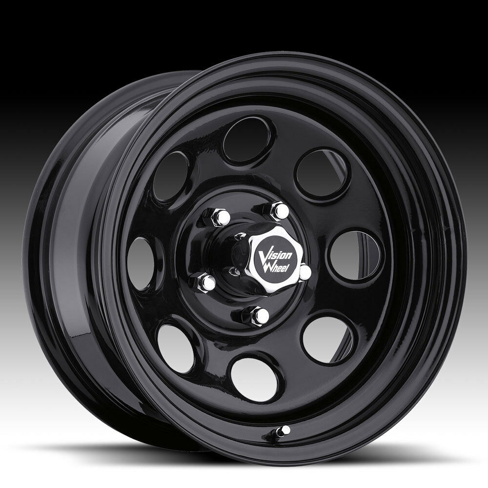 Soft 8 Black Steel Wheels Rims 6x5 5 6 Lug Chevy GM Truck