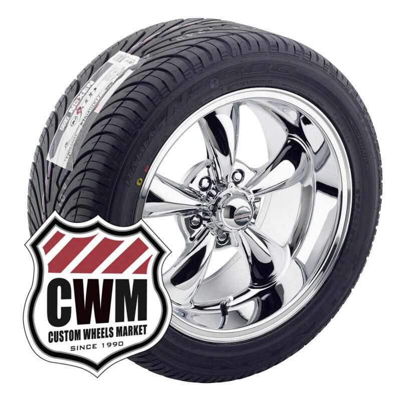 17x8 17x9 Chrome Wheel Rims Tires 235 45ZR17 275 40ZR17 for Chevy