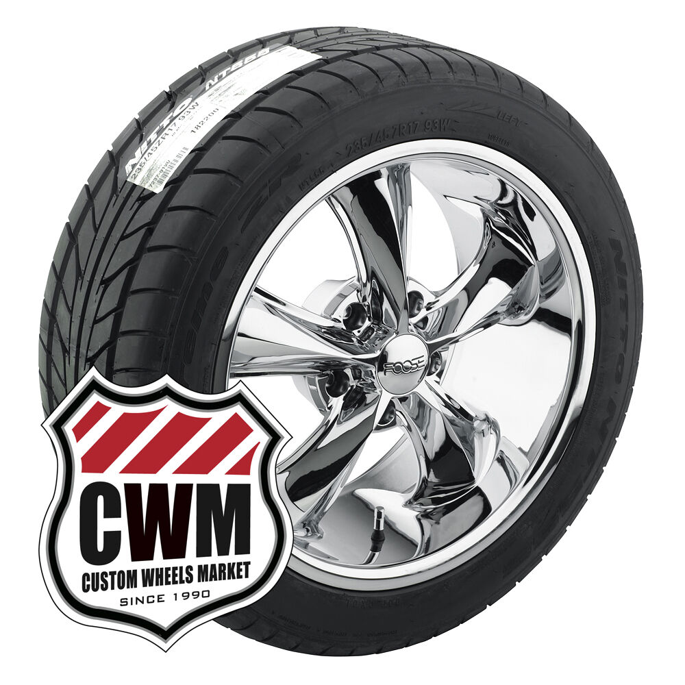 "17x8"" 17x9"" FOOSE Legend F105 Chrome Wheels Rims Tires for Chevy Impala 1965"